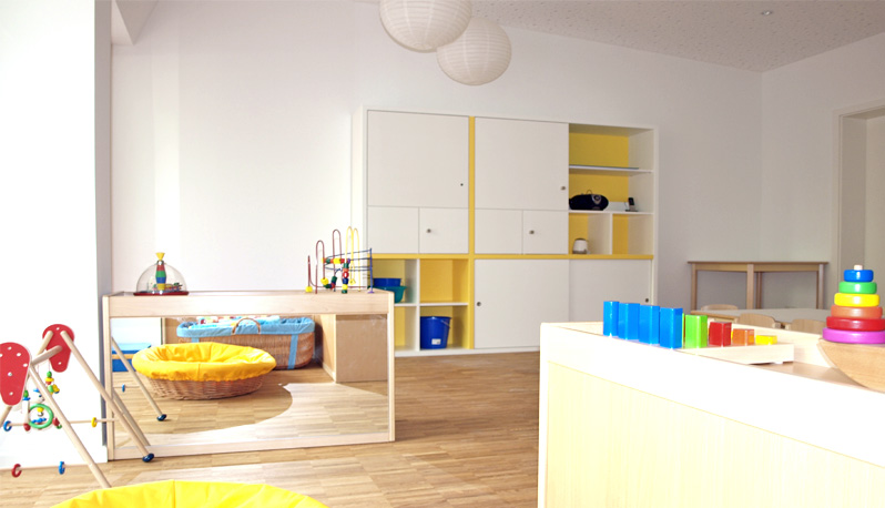 firmhofer g nther architekten projekte sozialbau kita waldtrudering. Black Bedroom Furniture Sets. Home Design Ideas